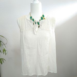 Joie white blouse top size medium